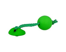 Gałka dziecięca DG12 z kolekcjiRainbowfirmy GAMET  Kolor zielony.   Wykonana z gumy i tworzywa sztucznego.