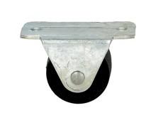 KDS-186 - Rolka sztywna duża  Wymiary: * płytka - 5cm x 2.9cm * rozstaw nawiertów płytki - 3,8cm * szerokość kółka -2,5cm * wysokość góra/dół -...