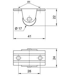 Rolka sztywna mała fi17mm - Amix