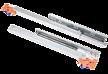Prowadnica kryta, kulkowa CB20ST długość 45cm. Do szuflad drewnianych z hamulcem. Obciążenie - 25 kg na parę prowadnic Długość - 450 mm Pełny wysuw...