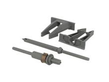 Zestaw zębatek T57.7400 do montażu relingu synchronizacji mechanizmu TIP-ON w prowadnicach Movento i szufladach LEGRABOX Wykonana z tworzywa w kolorze...