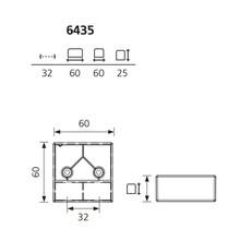 Nóżka Kwadratowa 6435/25 Bez Regulacji wys.2,5cmMAt CHROM LAKIER - Schwinn