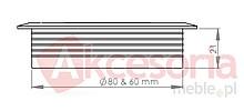 Przepust kablowy Przepust Kablowy z Plastiku fi 80 Szary - Siso