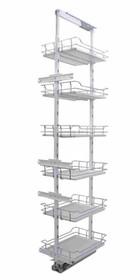 MAXIMA EVO cargo MAXI 30 6 poziomów metal/tworzywo chrom/biały  System Cargo Maxima EVO to najnowsza linia produktowa REJS do wyposażania szafek...