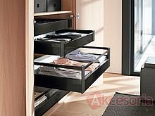 BOXSIDE Szklany SATYNA Z37R Do ANTARO o Dł.50cm Wys.D 1SZT - Blum