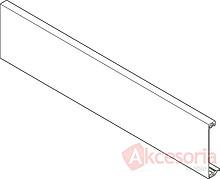 Front do szuflady wewnętrznej Tandembox ANTARO do docięcia.  Wykonany z aluminium w kolorze szarym RAL 9006 Długość rzeczywista: 1036.3 mm Do korpusu o...