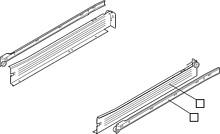 Szuflada METABOX 320M H=86mm Wysuw75% Kremowa dł.35cm Blum - Blum