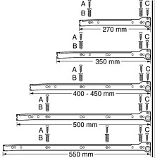 Szuflada METABOX 320M H=86mm Wysuw75% SZARA dł.50cm Blum - Blum