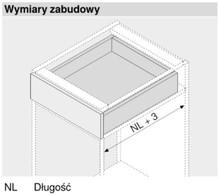 Prowadnice do szuflad Prowadnica TANDEM Plus Z HAMULCEM 550H dł.27cm Wysuw 75% Blum - Blum