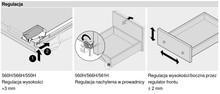 Prowadnice do szuflad Prowadnica TANDEM Plus Z HAMULCEM 550H dł.30cm Wysuw 75% Blum - Blum