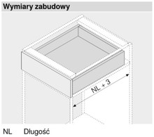 Prowadnica TANDEM Plus Z HAMULCEM 560H dł.27cm Wysuw 100% Blum - Blum
