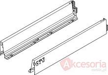 BOKI 358M Szarez zaślepkami do szuflady TANDEMBOX ANTARO  Wysokość boku: M=83 mm Do długości prowadnicy: 300 mm Regulacja wysokości: +/- 2...
