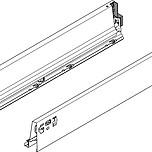 BOKI 378M Szarez zaślepkami do szuflady TANDEMBOX ANTARO  Wysokość boku: M=83 mm Do długości prowadnicy: 650 mm Regulacja wysokości: +/- 2...