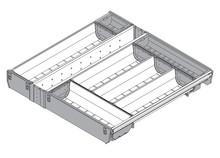 Wkład na sztućce do TANDEMBOX dł.: 450 mm Długość rzeczywista: 424 mm szerokość korpusu: 550 mm Min. szerokość: 465 mm Max. szerokość: 474 mm...