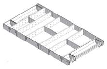 Podział wewnętrzny - sztućce pomocne w gotowaniu - do TANDEMBOX dł.: 500 mm Długość rzeczywista: 474 mm szerokość korpusu: 1000 mm Min. szerokość:...