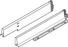 Boki szuflady zlewozmywakowej TANDEMBOX plus i ANTARO (wewnętrzne). W komplecie bok prawy i lewy Wysokość boku szuflady: M=83 mm Materiał: stal...