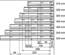 Tandembox PROWADNICE 578 Dł.45cm Wysuw 100% 30kg Hamulec - Blum