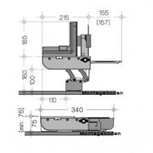Krajalnica AES 62 SL do zabudowy srebrny metalik - Ritter