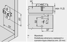 Prowadnik CLIP Do Zawiasu Dystans-0mm Regul. Wysokości, EXPANDO - Blum