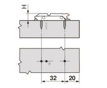 Zawiasy Prowadnik Prosty 0mm Do Zawiasów Clip Top i Aventosa HF/ HK-S - Blum