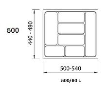 SMART wkład do szuflad 60L wykonane są z trwałego i estetycznego tworzywa w kolorze srebrnym. Pozwala optymalnie wykorzystać przestrzeń i zachować...