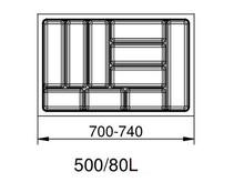 SMART wkład do szuflad 80L wykonane są z trwałego i estetycznego tworzywa w kolorze srebrnym. Pozwala optymalnie wykorzystać przestrzeń i zachować...