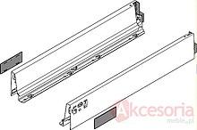 Komplet boków 358M w kolorze jedwabiście białym do szuflady TANDEMBOX INTIVO Wysokość boku: M=83 mm Wysokość zabudowy: 98.5 mm Materiał: stal...