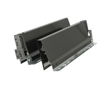 Komplet boków 358M Brunatno-czarnych do szuflady TANDEMBOX Wysokość boku: M=83 mm Wysokość zabudowy: 98.5 mm Materiał: stal Mechanizm regulacji...