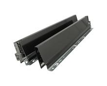 Komplet boków 378M Brunatnoczarnych do szuflady TANDEMBOX Wysokość boku: M=83 mm Wysokość zabudowy: 98.5 mm Materiał: stal Mechanizm regulacji...