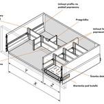 Ścianka działowa Z46L. Kolor INOX. Do długości prowadnic 45cm. Element systemu Orga-Line do Tandembox INTIVO z wysokim frontem. Stosuje się ją w celu...