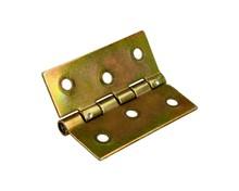 Zawias splatany 5 cm w wykończeniu żółty ocynkowany. Zawias splatany produkowany jest o długościach 30mm,35mm,40mm,50mm,60mm i 70mm. Wymiary zawiasu...