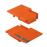 Wzornik punktowy ZML.3510 służy do obróbki frontu szuflady TANDEMBOX wysokość N Służy do określenia pozycji montażowych mocowań frontu typu ZSF.3502...