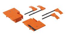 Wzornik punktowy ZML.3580 służy do obróbki frontu szuflady TANDEMBOX Plus, Antaro oraz Intivo. Służy do określenia pozycji montażowych mocowań frontu...