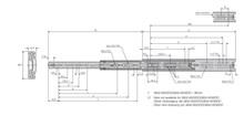 Prowadnice do szuflad Prowadnica kulkowa 3832DO 50cm 45kg 100%wysuw Accuride - Accuride
