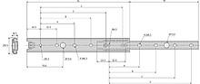 Prowadnica kulkowa 2728 Nierdzewna 25cm 20kg wysuw 75% Accuride - Accuride