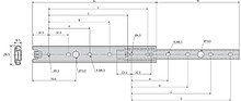 Prowadnica kulkowa 2728 Nierdzewna 50cm 20kg wysuw 75% Accuride - Accuride