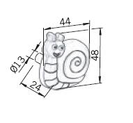 Uchwyty Uchwyt Dziecięcy Gummi H152-44RU8 ( Ślimak ) - Siro