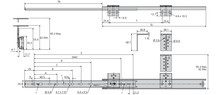 Prowadnica 2109 Klawiaturowa 35cm 35kg wysuw75% Srebrna Accuride - Accuride