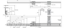 Prowadnica 2109 Klawiaturowa 45cm 35kg wysuw75% Srebrna Accuride - Accuride