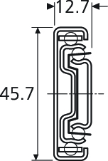 Prowadnice do szuflad Prowadnica kulkowa 3832 45cm 45kg wysuw 100% Accuride - Accuride