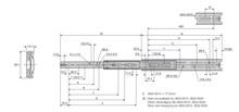 Prowadnica kulkowa 3832 65cm 45kg wysuw 100% Accuride - Accuride