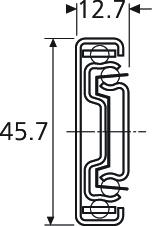Prowadnica kulkowa 3832 70cm 45kg wysuw 100% Accuride - Accuride
