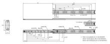 Prowadnica kulkowa 2132DO dł.40cm 35kg wysuw 75% Accuride - Accuride