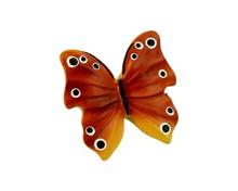 Gałka wykonana z tworzywa, przedstawiająca motyla.  Element kolekcji Butterfly zaprojektowanej przez Simone Gutsche-Sikora