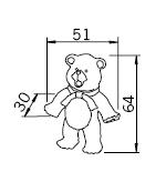 Uchwyt Dziecięcy H105 (Niedźwiadek) z Kolekcji Nursery - Siro