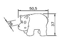 Uchwyt Dziecięcy H106 (Hipopotam) z Kolekcji Nursery - Siro