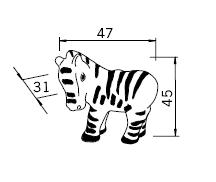 Uchwyt Dziecięcy H108 (Zebra) z Kolekcji Nursery - Siro