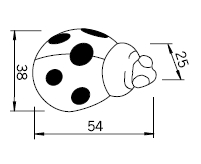 Uchwyt dziecięcy H109 (biedronka) - Siro