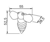 Uchwyt dziecięcy H110 (pszczoła) - Siro