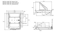 Mechanizm Wysuwno-Obrotowy DBMAC-050 Do Audio-Video - Accuride